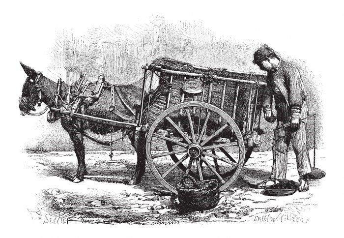 early waste transportation