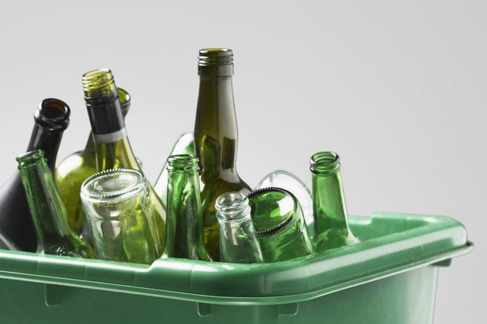 glass bottle disposal
